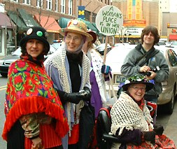 Raging Grannies joining the picket line in Ann Arbor at the Borders Book Store